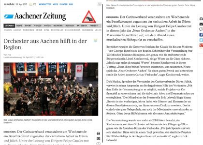 Standing Ovations für das Neue Orchester in Düren