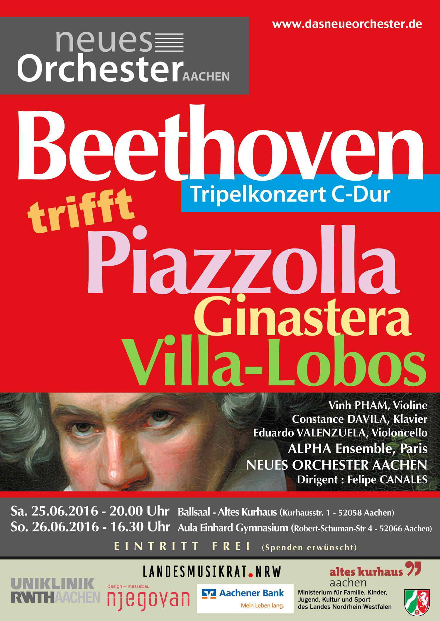 Konzert : Beethoven trifft Piazzolla, Ginastera, Villa-Lobos
