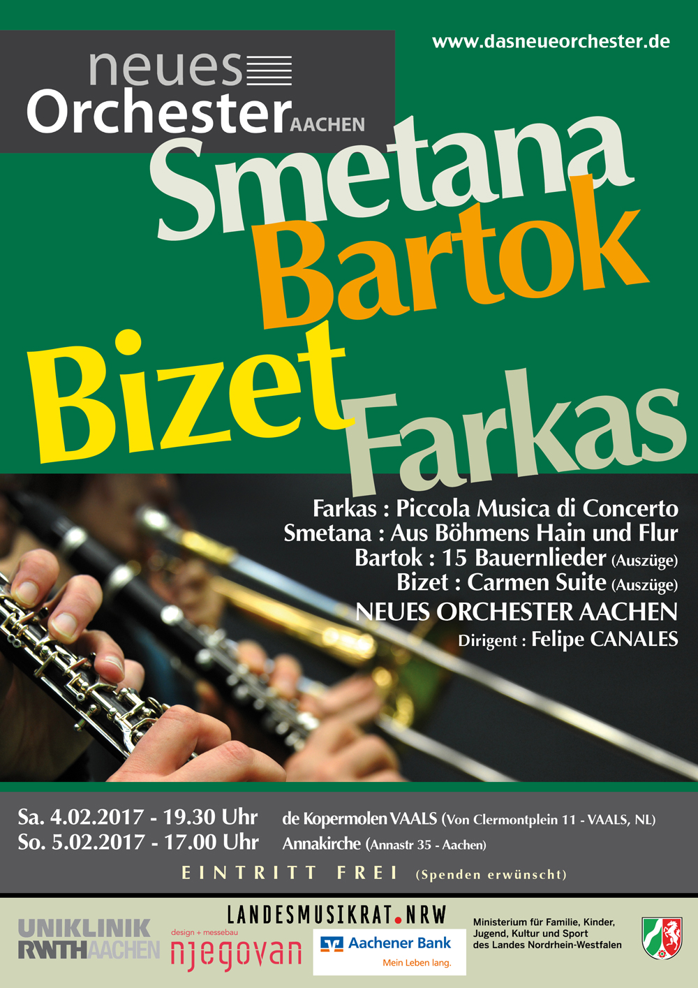 Konzert : Bizet, Smetana, Bartok, Farkas